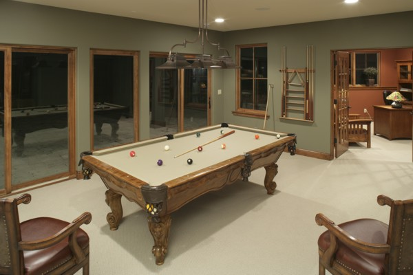 Enjoy time with family and friends in this newly designed game room.