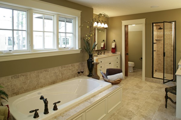 Master baths from The House Designers