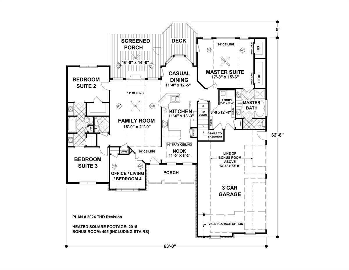 One Story Country Style House Plan 4304 Th Rockwell