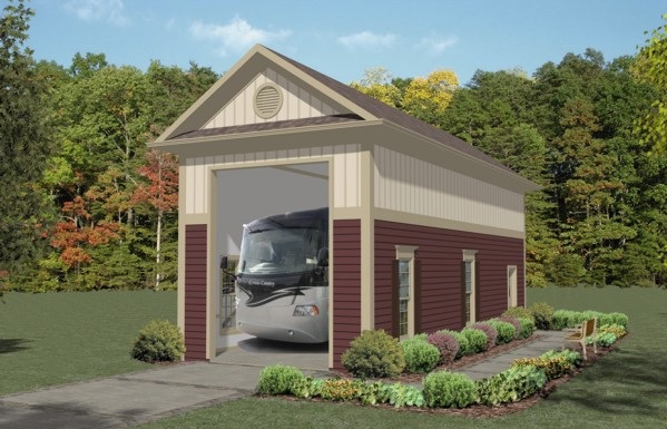 Do It Yourself Home Design: Boat-RV Garage Two 3067