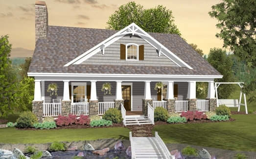 High Quality The Greystone Cottage 3061   3 Bedrooms And 2 Baths | The House Designers