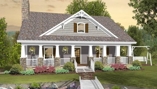 image of The Greystone Cottage House Plan