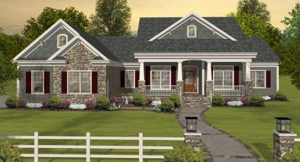 Country House Plans With Porches Low French Amp English