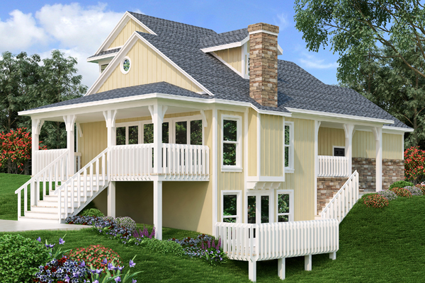 Sloping lot house plan for House plans for sloping lots in the rear
