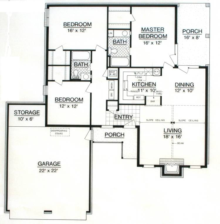 Hyde park 1425 9028 3 bedrooms and 2 5 baths the for Hyde homes floor plans