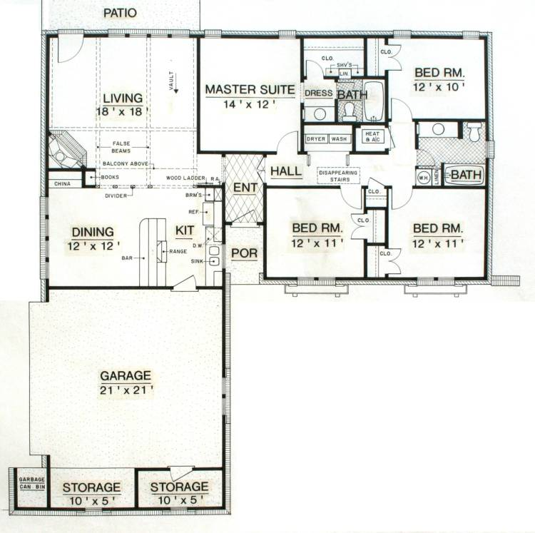 Texas House Plans Over 700: 4 Bedrooms And 2.5 Baths