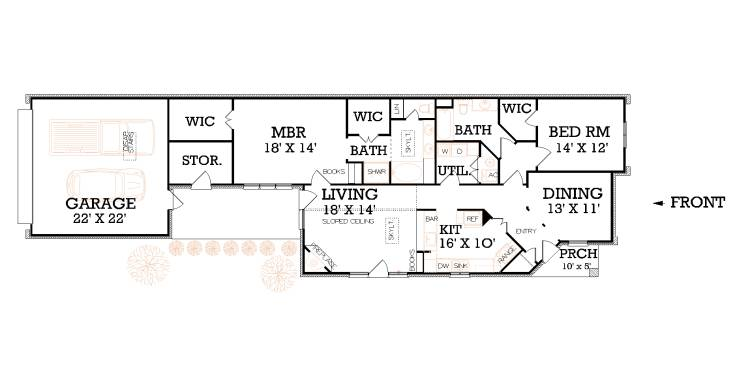 narrow lot floor plans, narrow lot  house plans