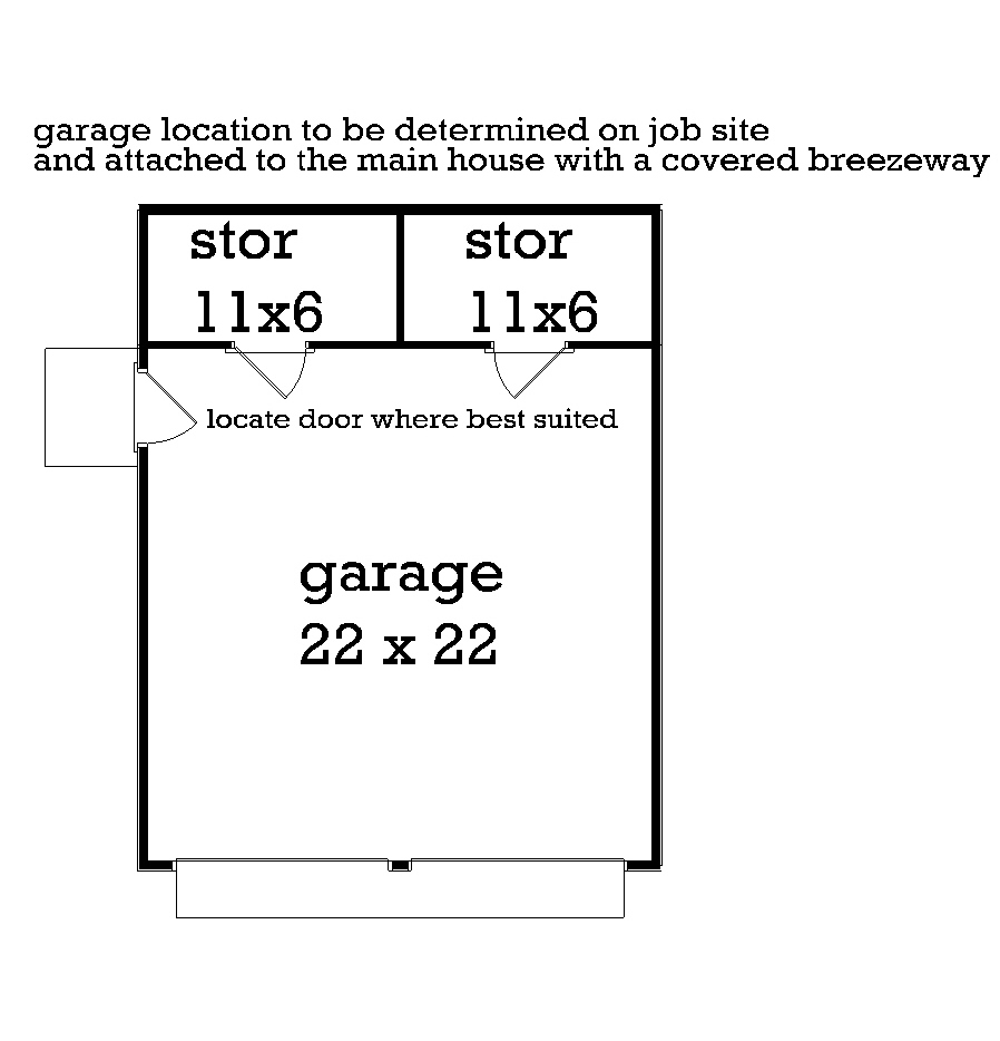 Optional Garage Plan