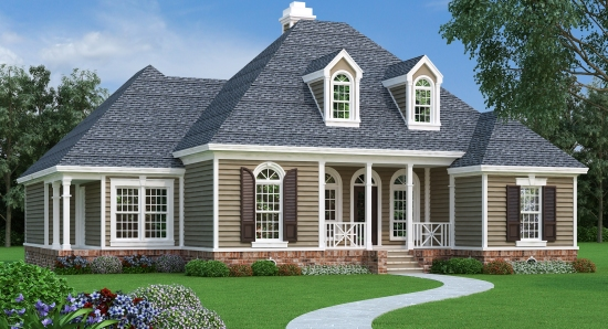 Southern one story house plan for Accent homes floor plans