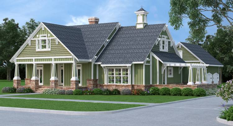Stunning craftsman 9358 3 bedrooms and 2 5 baths the for Free craftsman house plans
