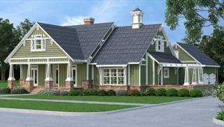 image of stunning craftsman house plan