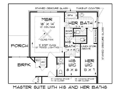 Master Bed Rm and Baths