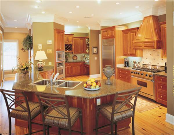 Angled Kitchen Island With Sink