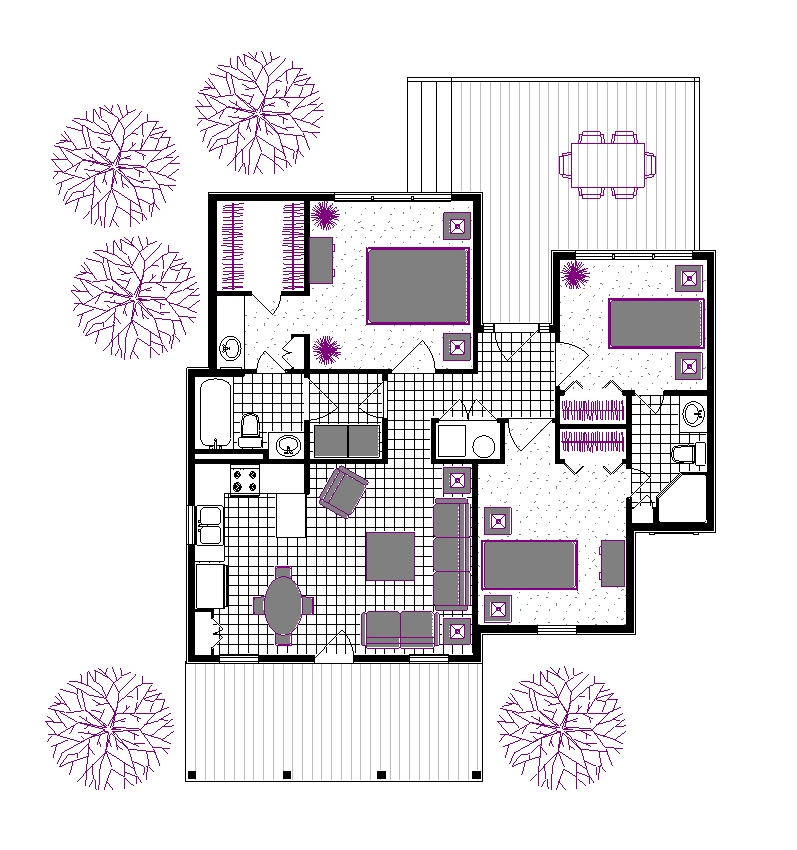 Rutherford house 908 3162 3 bedrooms and 2 5 baths the house designers Home layout planner