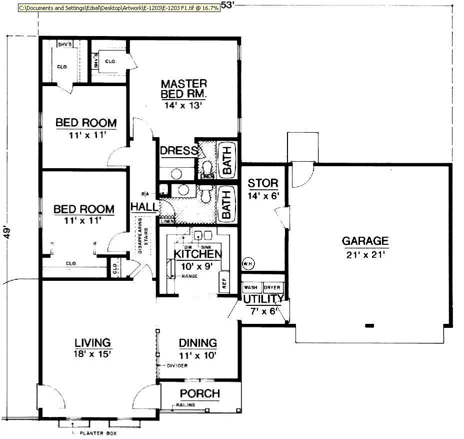 Hyde park 1203 2846 3 bedrooms and 2 5 baths the Free home plans