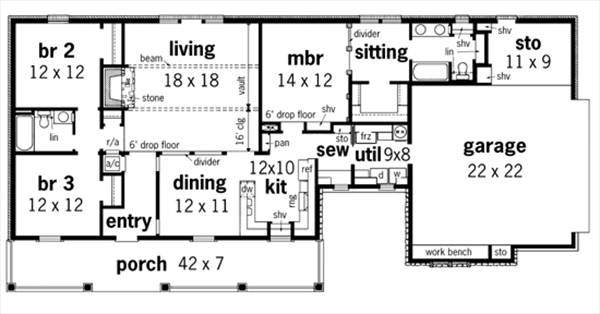 Frontier 1607 3563 3 bedrooms and 2 5 baths the for Frontier plans