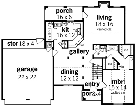 Ft walton 1708 8331 3 bedrooms and 2 5 baths the for Walton house floor plan