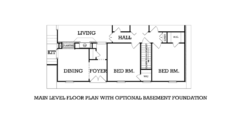 Optional Basement stair location