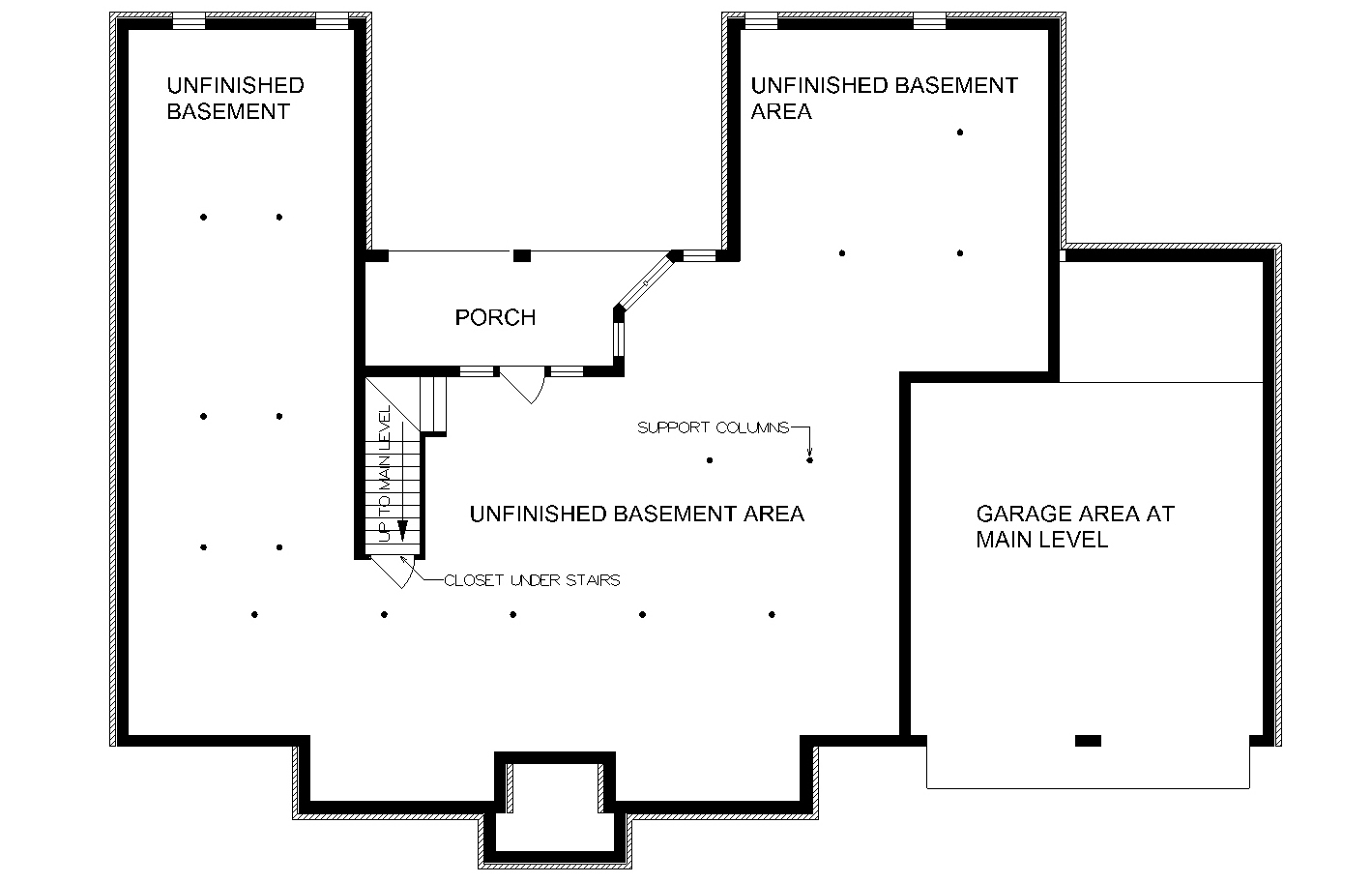 Optional Day Light Basement Foundation image of Greenstone-1904 House Plan