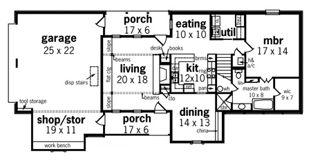 First Floor Plan image of Fremont - 1905