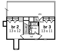 Second Floor Plan image of Fremont - 1905