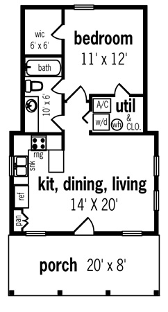 Guest House Plans Under 1000 Sq Ft Caroldoey