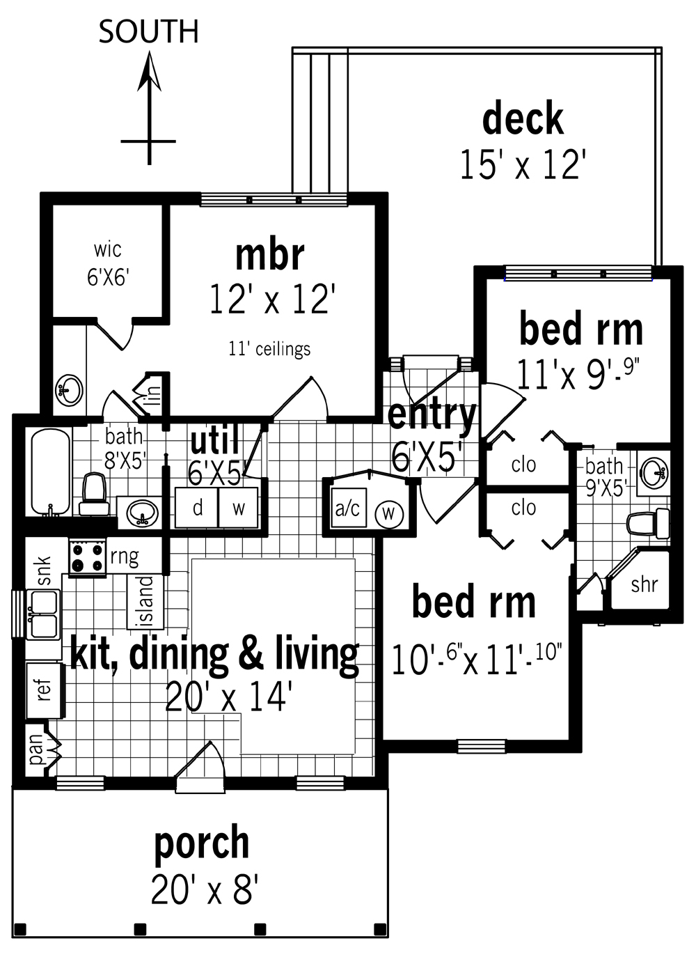 House plan with furniture - Floor Plan
