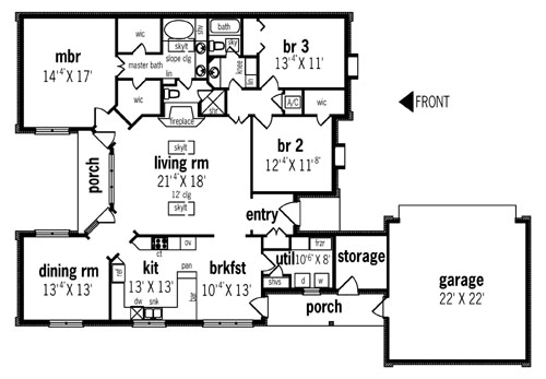 New House Plans 2014 moravia - 2014 6862 - 3 bedrooms and 2.5 baths | the house designers