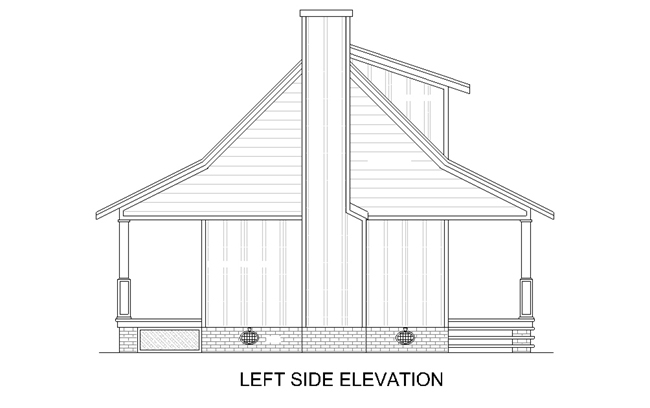 Left Elevation Plan : Hickory creek bedrooms and baths the