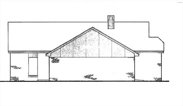Left Elevation Plan : Hampton bedrooms and baths the house