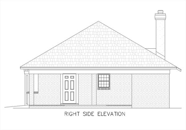 Right Side Elevation Plan : Fountain hill  bedrooms and baths the
