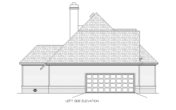 Left Elevation Plan : Eddington bedrooms and baths the house