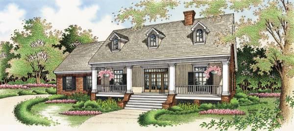 Cedarton 1811 3571 3 bedrooms and 2 5 baths the house designers - Casas americanas con porche ...