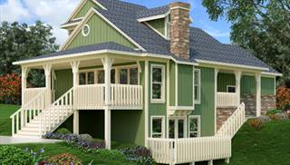 Mountain House Plans Multilevel Home Designs Blueprints by THD
