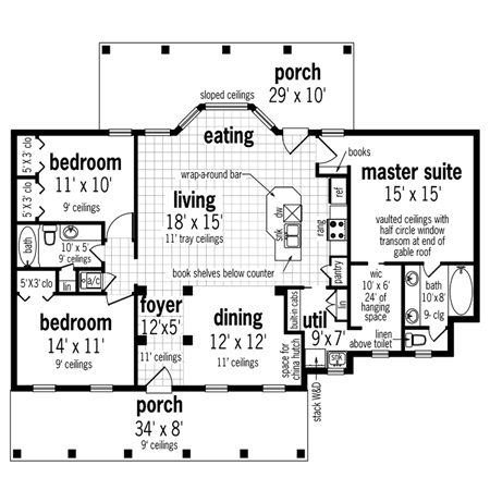 Small energy efficient design for Main level floor plans