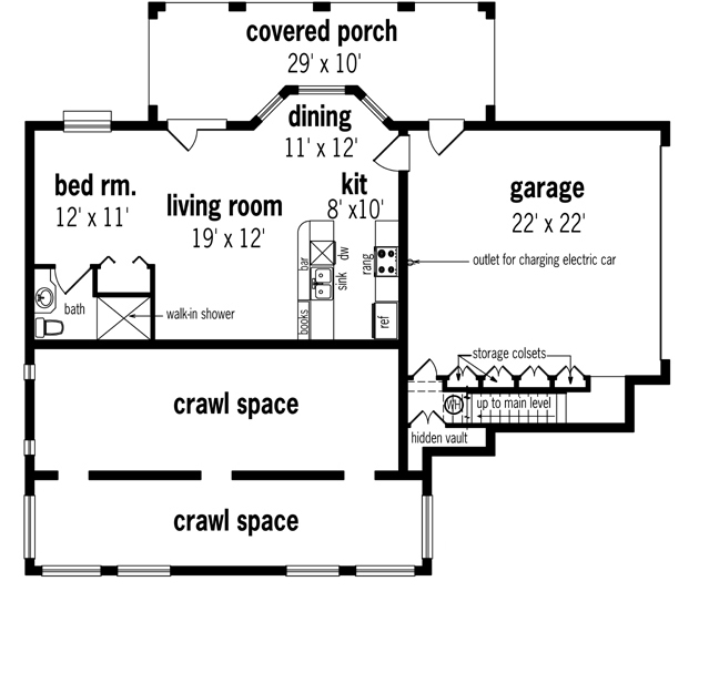 Optional Day Light Basement Foundation image of Oakland Park - 1520 House Plan