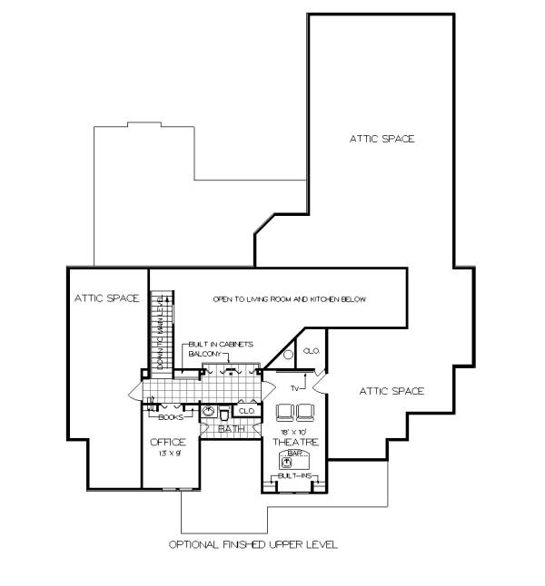 Optional Finished Upper Level Floor Plan