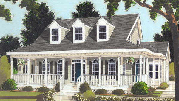 Great wrap around porch 6993 3 bedrooms and 2 baths for Free house plans with wrap around porch