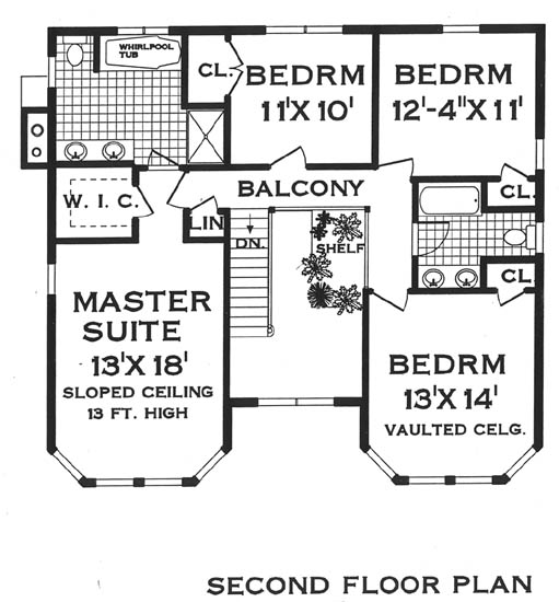 VictorianCountry Style 5809 4 Bedrooms and 2 Baths – Victorian Home Floor Plan