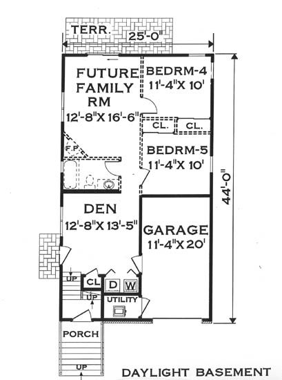 Narrow Lot House Plans - Home, Floor Plans at Donald A Gardner