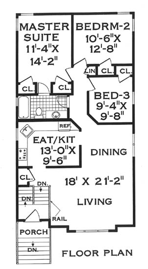 Narrow lot house plans by Alan Mascord Design Associates, Inc.