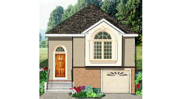 Narrow lot country home 5806 5 bedrooms and 2 5 baths for Narrow house plans with garage underneath