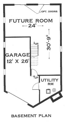 Basement image of Great Chalet House Plan