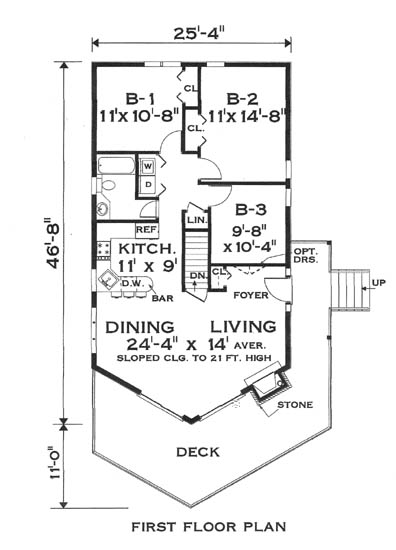 Floor plan image of Great Chalet House Plan