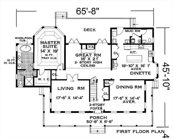 Fist Floor image of Great Home Plan