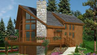 image of Cottage Vacation Home House Plan