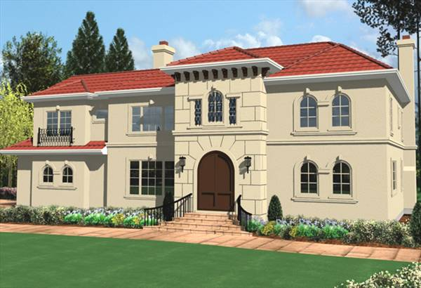 Spanish colonial 8303 4 bedrooms and 3 baths the house for Spanish colonial floor plans