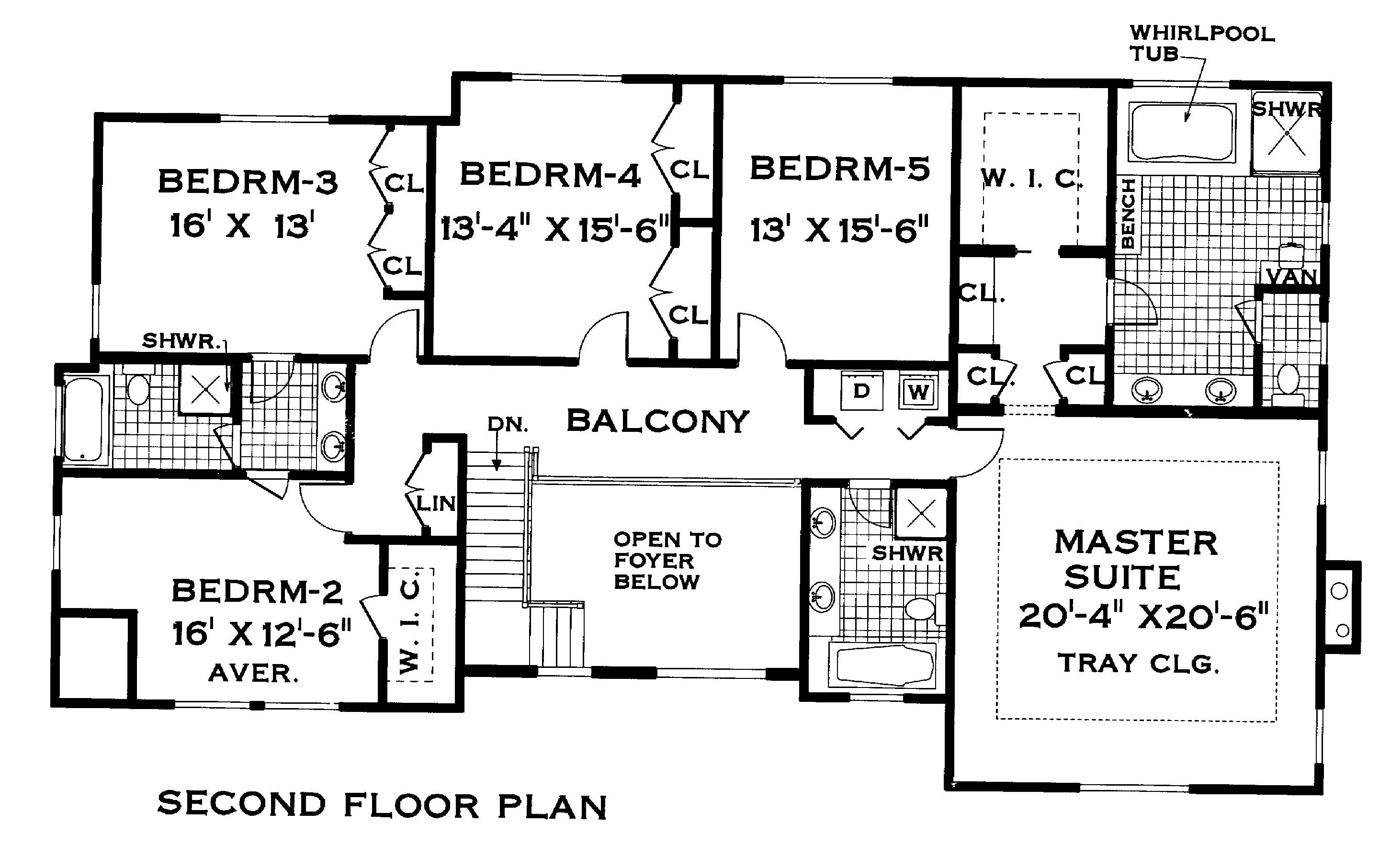 The pines 3304 5 bedrooms and 3 baths the house designers for Floor plan blueprints free