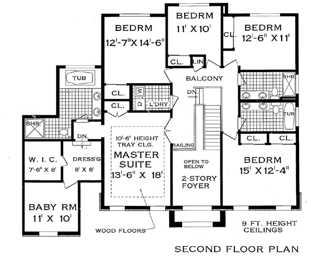 Two story home design for large family for Grand homes floor plans