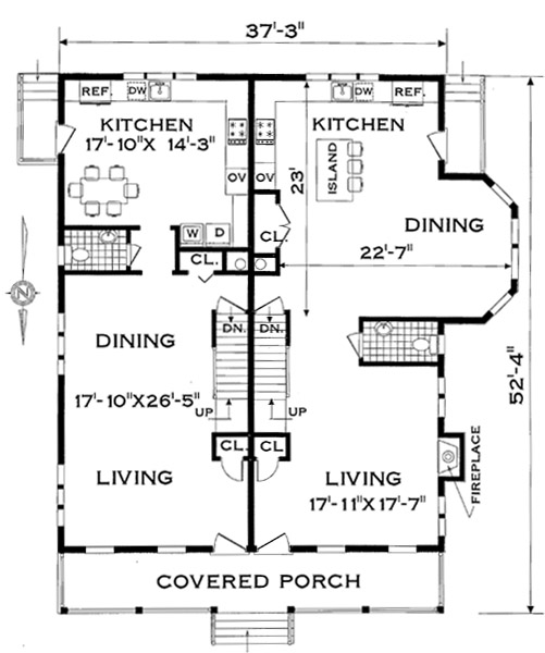 Awe Inspiring Two Family Narrow Lot 4285 3 Bedrooms And 1 Bath The House Largest Home Design Picture Inspirations Pitcheantrous